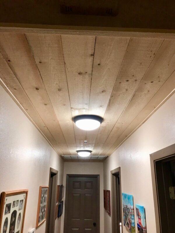 shiplap on ceiling